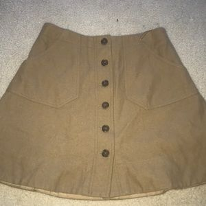jcrew tan skirt